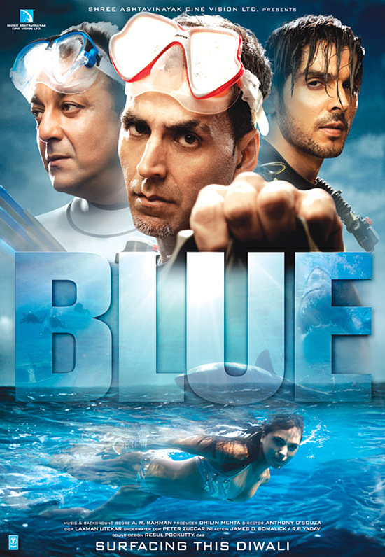 Blue (2009) Hindi Movie BRRip 720p