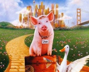 Babe: Pig in the City (1998) 175MB BRRip Dual Audio