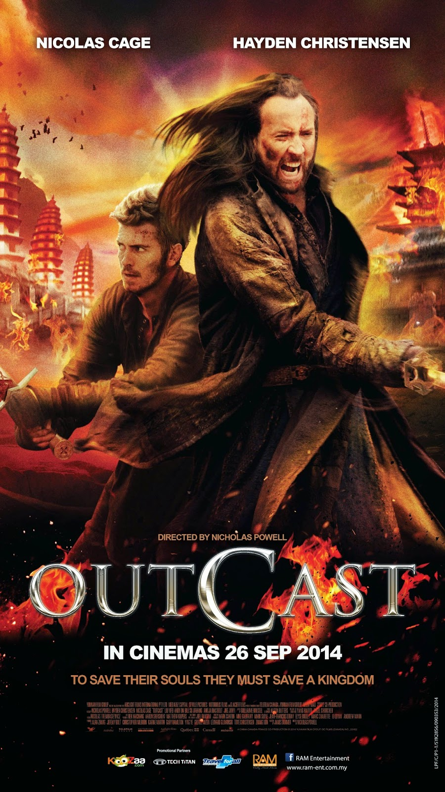 Outcast 2014 (Dual Audio) [Hindi Eng] BRRip 300mb